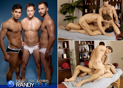 Vídeo Gay Online – Sexo Gay: Chris Bines, Diego Sans & Eric Pryor