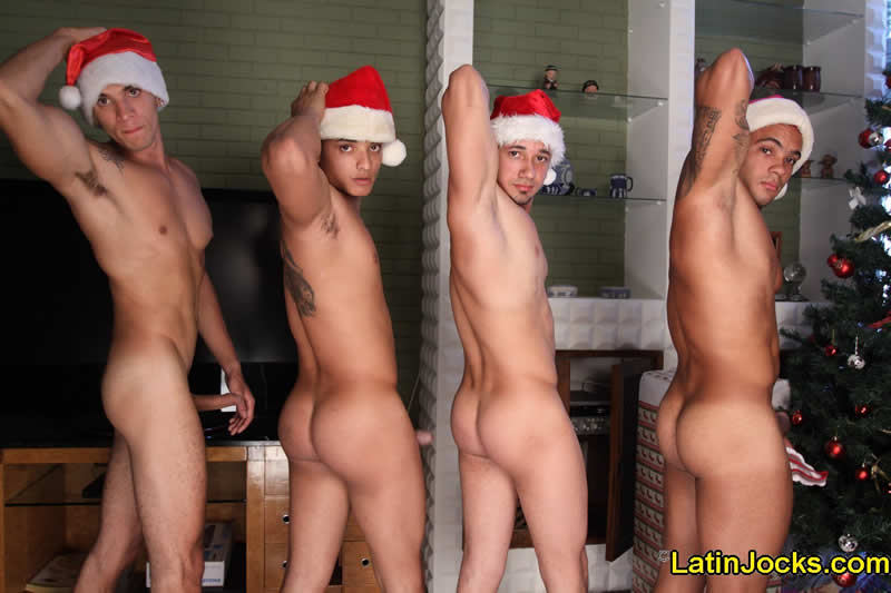 Vídeo Gay Download: Feliz Natal: Sarados Punhetando