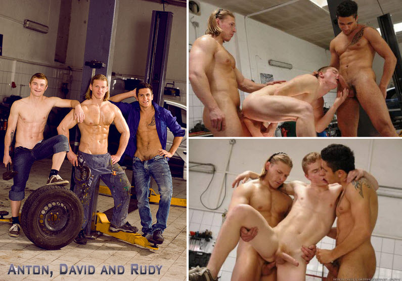 Vídeo Gay Online – Sexo Gay: Rudy Bodlak, Anton Malac & David Kadera