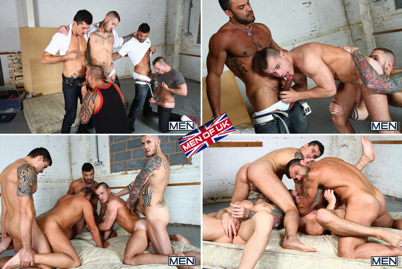Vídeo Gay Online – Sexo Grupal: Harley Everett, Jay Roberts, Rogan Richards, Ryan Stokes & Diesel O'Green