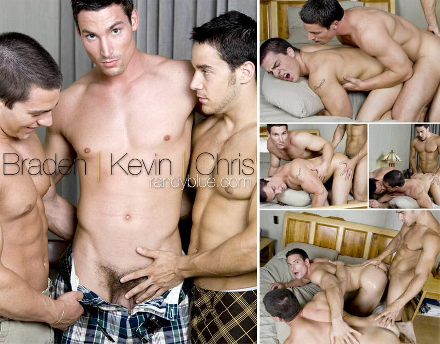 Vídeo Gay Online – Sexo Gay: Braden Charron, Chris Rockway & Kevin Falk
