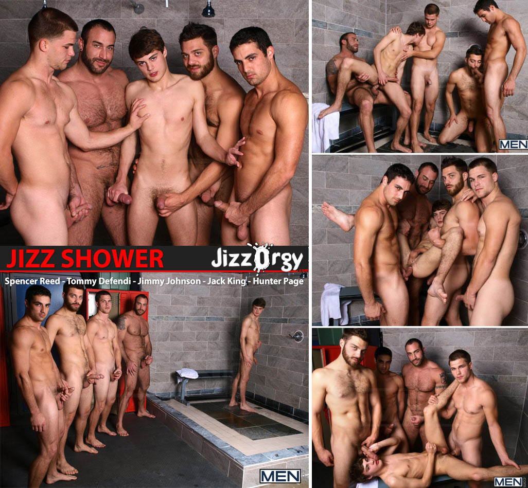 Vídeo Gay Online – Sexo Grupal: Spencer Reed, Tommy Defendi, Jimmy Johnson, Jack King & Hunter Page