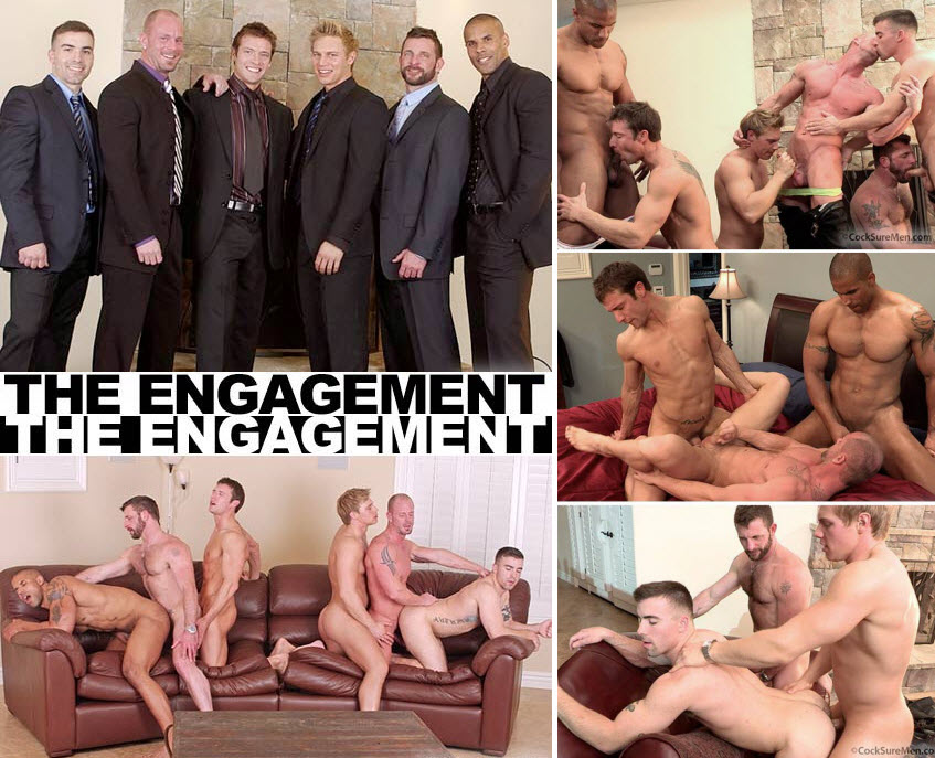 Vídeo Gay Online – Sexo Grupal: The Engagement (completo)