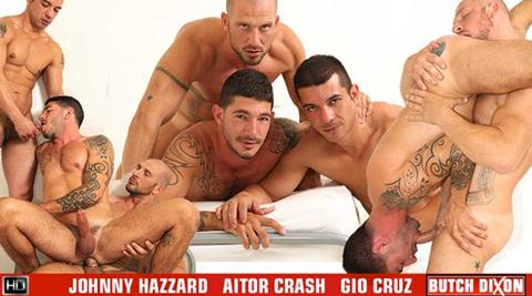 Vídeo Gay Online – Sexo Gay: Johnny Hazzard, Aitor Crash & Gio Cruz