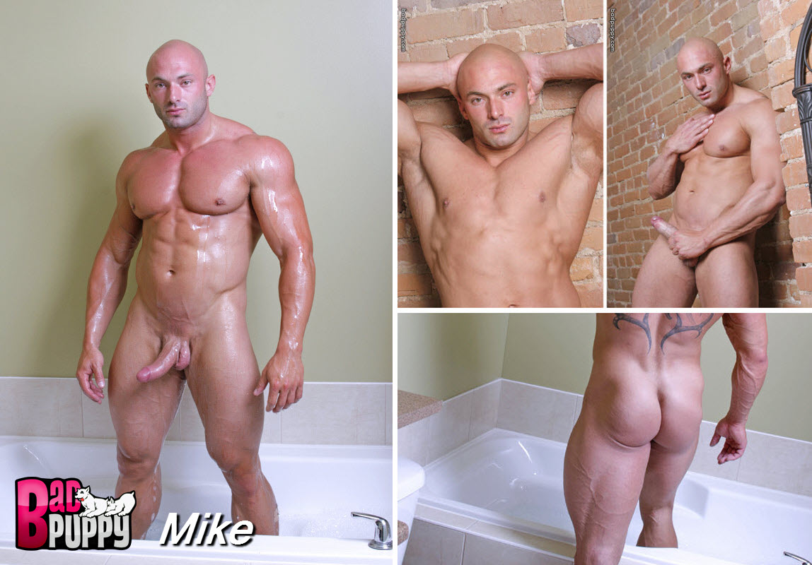 Vídeo Gay Online – Careca Musculoso: Punheta com Mike (Max Chevalier)