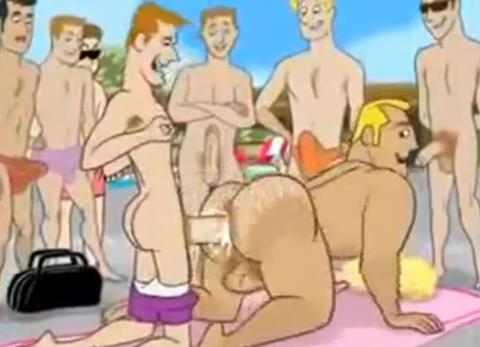 Vídeo Cartoon Gay – Cartoon Nude Beach