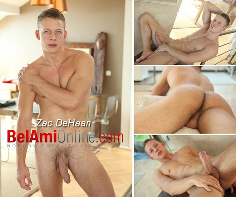 Vídeo Gay Online – Loiro Gostoso: Punheta e PhotoSession com Zac DeHaan