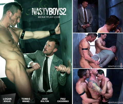 Vídeo Gay Online – Sexo Gay: Jake Bolton, Pau Casserras, Tomas Brand & Logan Rogue