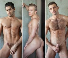 Randy Blue – Dupla Penetração Gay: Skylar West, Diego Sans & Jarec Wentworth