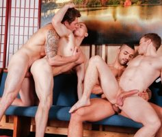 Vídeo Gay Online – Suruba Gay: Dante Martin, Gabriel Cross, Markie More & Arad