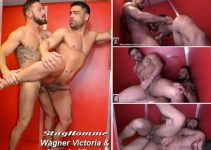Vídeo Gay Online – Sexo Gay Bareback: Wagner Victoria & Antonio Miracle