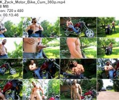 Vídeo Gay Download – Gato Gostoso: Punheta com Zack Motor Bike Cum
