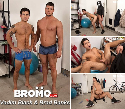 Vídeo Gay Online – Sexo Gay Bareback: Vadim Black & Brad Banks