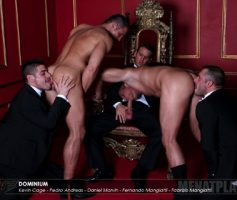 Vídeo Gay Online – Suruba Gay: Daniel Marvin, Kevin Cage, Pedro Andreas & The Mangiatti Twins