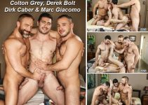 Vídeo Gay Online – Sexo Gay Grupal: Colton Grey, Derek Bolt, Dirk Caber & Marc Giacomo