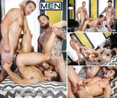 Vídeo Gay Download – Sexo Gay: Connor Maguire, Jordan Levine & Brenner Bolton
