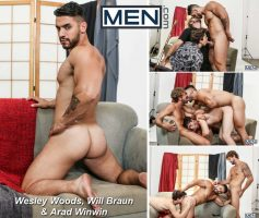 Vídeo Gay Online – Sexo Gay: Wesley Woods, Will Braun & Arad Winwin