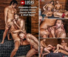 Vídeo Gay Download – Sexo Gay Bareback: Alejandro Castillo, Wolf Rayet, Dominic Arrow & Denis Sokolov