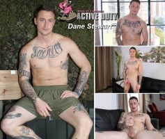 Vídeo Gay Download – Gato Tatuado Gostoso: Punheta com Dane Stewart