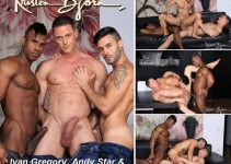 Vídeo Gay Online – Sexo Gay Bareback: Ivan Gregory, Andy Star & Ridder Rivera