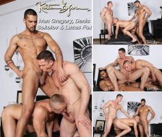 Vídeo Gay Online – Sexo Gay Bareback: Ivan Gregory, Denis Sokolov & Lucas Fox