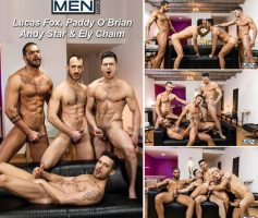 Vídeo Gay Online – Sexo Gay: Lucas Fox, Paddy O'Brian, Andy Star & Ely Chaim