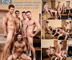 Vídeo Gay Download – Sexo Gay: Brandon Evans, Ashton McKay, Damien Kyle, Hoytt Walker & Kyle