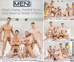 Vídeo Gay Download – Sexo Gay: Diego Reyes, Gabriel Cross, Skyy Knox & Paddy O'Brian