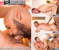 Vídeo Gay Download – Sexo Gay Bareback: Hans Berlin & Saul Leina