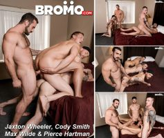Vídeo Gay Download – Sexo Gay Bareback: Jaxton Wheeler, Cody Smith, Max Wilde & Pierce Hartman