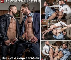 Vídeo Gay Download – Sexo Gay Bareback: Ace Era & Sergeant Miles