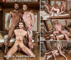 Vídeo Gay Download – Sexo Gay Bareback: Ace Era, Ralph Novak & Lucas Fox