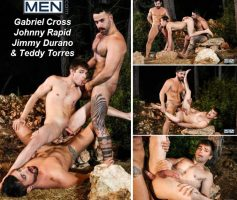 Vídeo Gay Online – Sexo Gay: Gabriel Cross, Johnny Rapid, Jimmy Durano & Teddy Torres