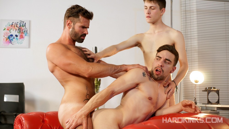 Hard Kinks: Dani Robles, Josh Milk and Ruben B