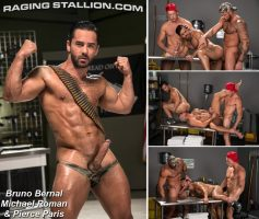 Vídeo Gay Online – Raging Stallion: Bruno Bernal, Michael Roman & Pierce Paris