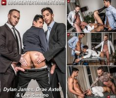 Vídeo Gay Download – Lucas Entertainment: Dylan James, Drae Axtell & Lee Santino