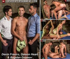 Vídeo Gay Online – Lucas Entertainment: Devin Franco, Damon Heart & Bogdan Gromov