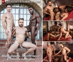 Vídeo Gay Online – Lucas Entertainment: Mario Galeno, Devin Franco & Pheonix Fellington