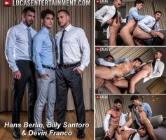 Vídeo Gay Online – Lucas Entertainment: Hans Berlin, Billy Santoro & Devin Franco