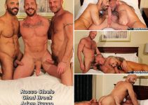 Vídeo Gay Online – Bareback That Hole: Rocco Steele, Chad Brock & Adam Russo