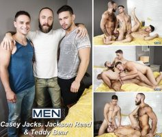 Vídeo Gay Online – Sexo Gay: Casey Jacks, Jackson Reed & Teddy Bear
