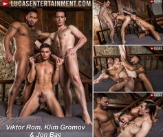 Vídeo Gay Download – Sexo Gay Bareback: Viktor Rom, Klim Gromov & Jon Bae