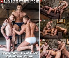 Double The Raw Dick – Brock Magnus, Guillaume Wayne & Yuri Orlov – Download